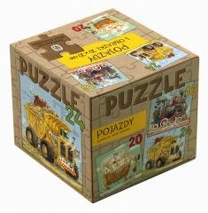Puzzle 3w1 - Pojazdy - zdjęcie zabawki, gry