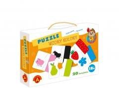 Puzzle wzory i kolory - Sówka mądra - okładka książki