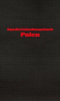 Sonderfahndungsbuch Polen. Specjalna - okładka książki