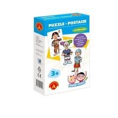 Zabawa i Nauka - Puzzle Postacie - zdjęcie zabawki, gry