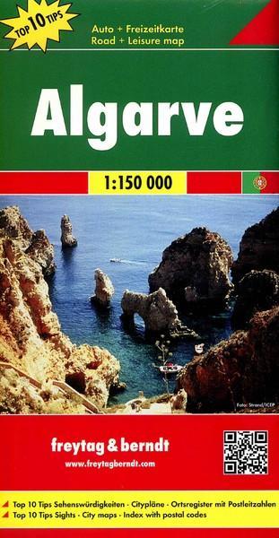 Algarve mapa 1:150 000 - okładka książki