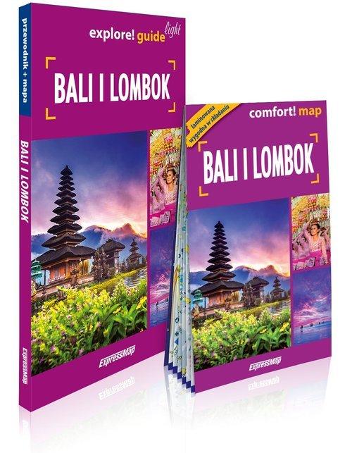 Bali i Lombok light przewodnik+mapa - okładka książki