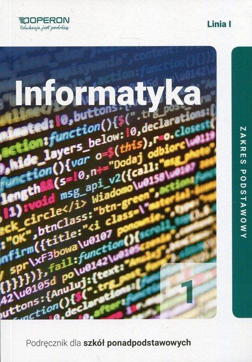 Informatyka 1. Liceum. Podręcznik. - okładka podręcznika