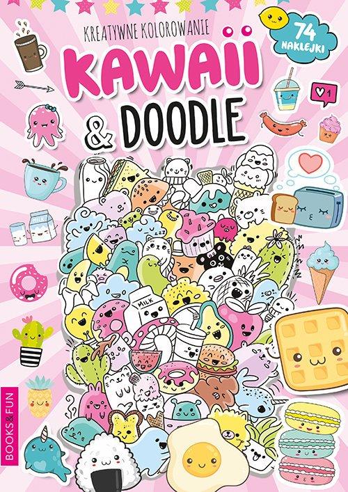 Kawaii i  Doodle  Activity z Naklejkami - okładka książki