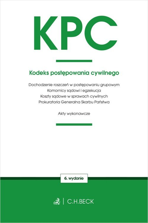 Kodeks postępowania cywilnego oraz - okładka książki