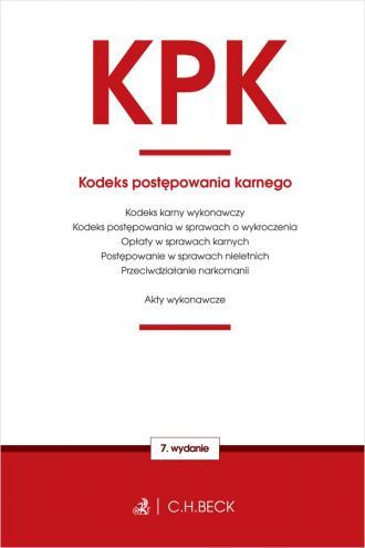 Kodeks postępowania karnego oraz - okładka książki