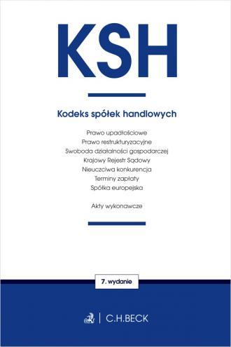 Kodeks spółek handlowych oraz ustawy - okładka książki