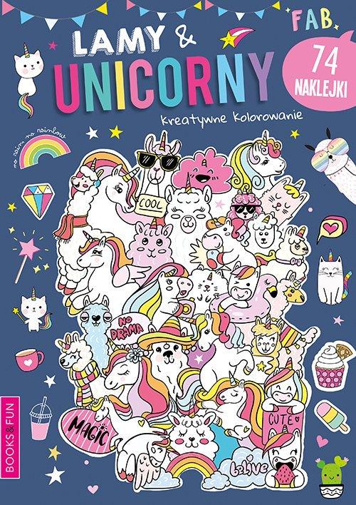 Lamy & Unicorny Activity z Naklejkami - okładka książki
