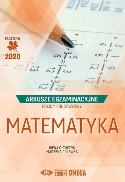 Matematyka Matura 2020. Arkusze - okładka podręcznika