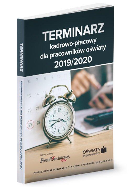 Terminarz kadrowo-płacowy 2019/2020 - okładka książki