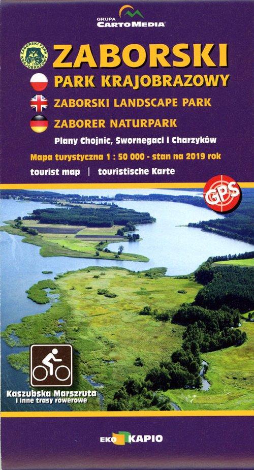 Zaborski Park Krajobrazowy, plan - okładka książki
