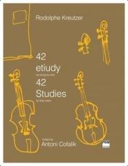 42 etiudy na skrzypce solo - okładka podręcznika