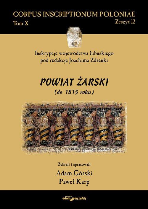Inskrypcje województwa lubuskiego - okładka książki