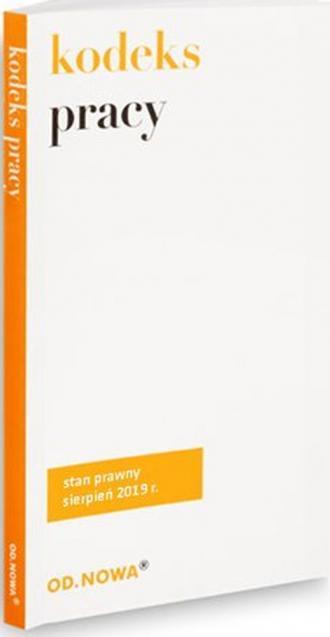 Kodeks pracy sierpień 2019 - okładka książki