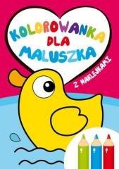 Kolorowanka dla maluszka z naklejkami - okładka książki