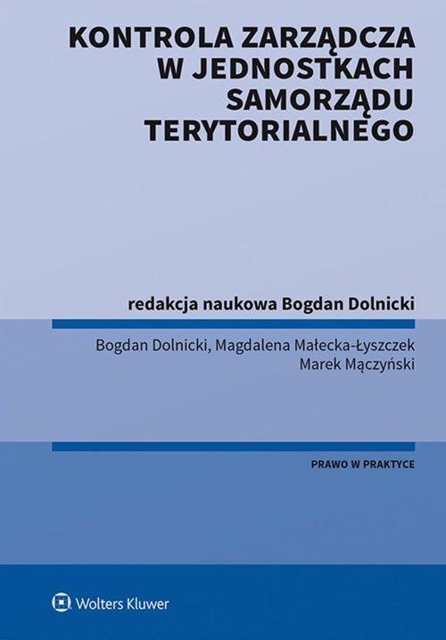 Kontrola zarządcza w jednostkach - okładka książki