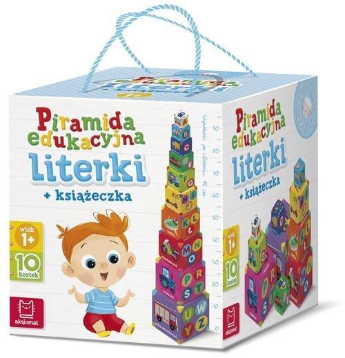 Piramida edukacyjna Literki + książeczka - okładka książki