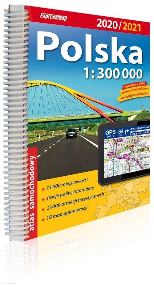 Polska atlas samochodowy 1:300 - okładka książki