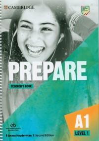 Prepare 1 Teachers Book with Downloadable - okładka podręcznika