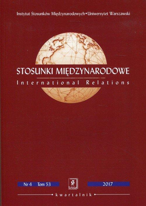 Stosunki Międzynarodowe Nr 4. Tom - okładka książki