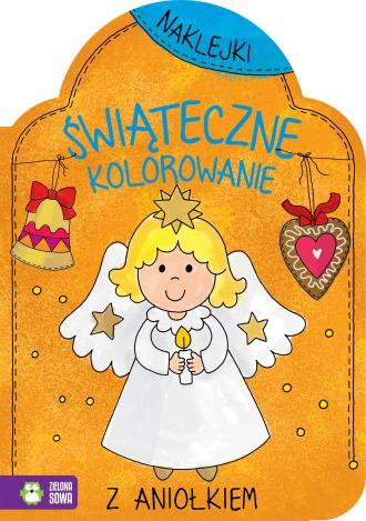 Świąteczne kolorowanie z aniołkiem - okładka książki