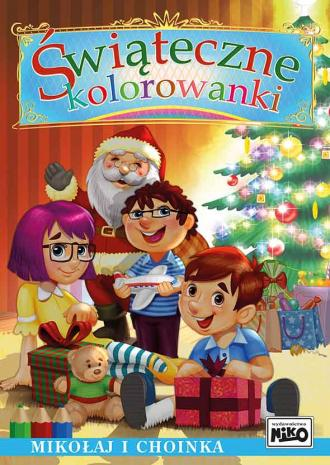 Świąteczne kolorowanki. Mikołaj - okładka książki