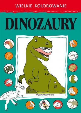 Wielkie kolorowanie. Dinozaury - okładka książki