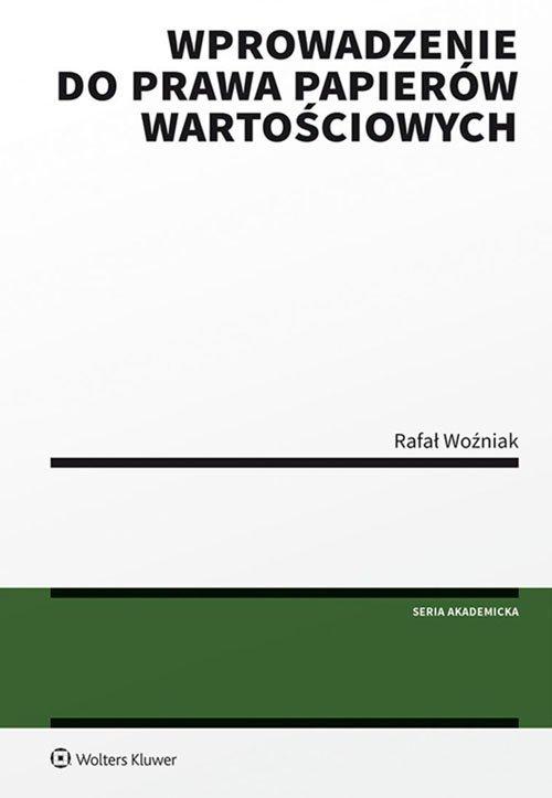 Wprowadzenie do prawa papierów - okładka książki