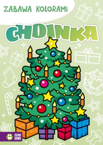 Zabawa kolorami Choinka - okładka książki
