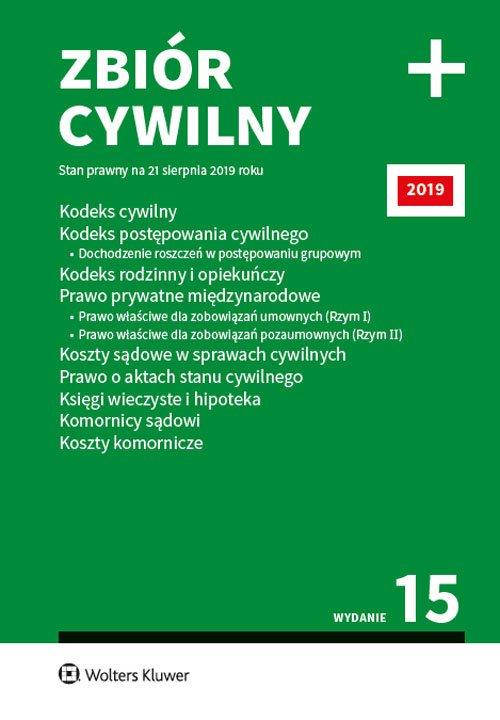 Zbiór cywilny PLUS 2019 - okładka książki