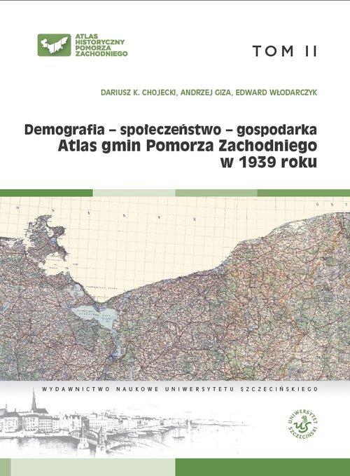 Atlas gmin Pomorza Zachodniego - okładka książki
