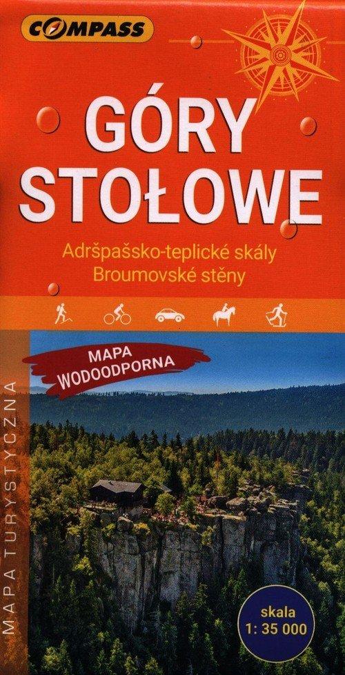 Góry Stołowe mapa laminowana - okładka książki
