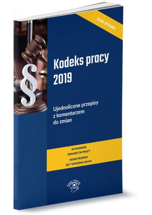 Kodeks pracy 2019 r. Ujednolicone - okładka książki