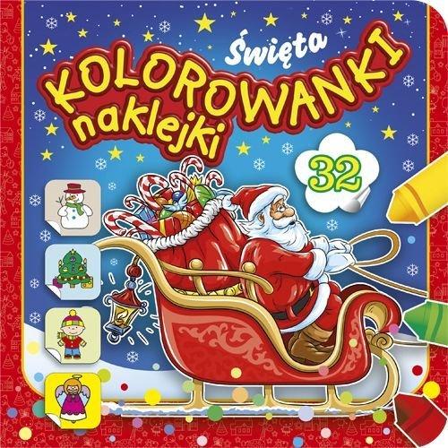 Kolorowanki naklejki Święta - okładka książki