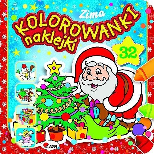Kolorowanki naklejki Zima - okładka książki