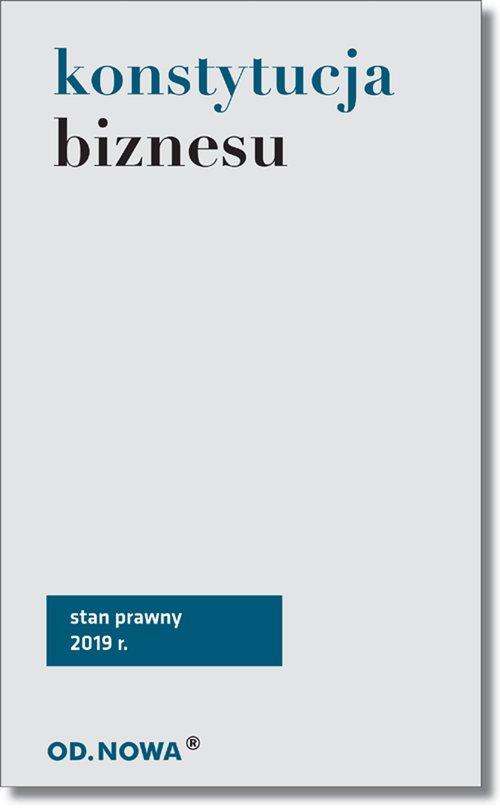 Konstytucja biznesu 2019 - okładka książki