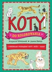 Koty do kolorowania - okładka książki