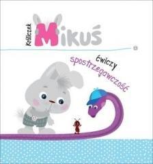 Króliczek Mikuś ćwiczy spostrzegawczość - okładka książki