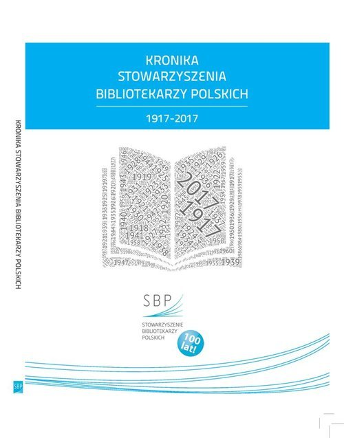 Kronika Stowarzyszenia Bibliotekarzy - okładka książki