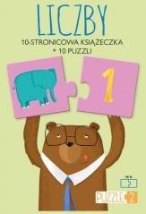 Liczby. Książeczka + 10 puzzli - okładka książki