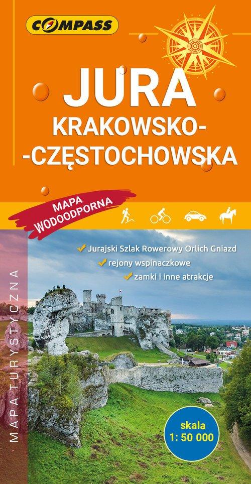 Mapa Jura Krakowsko-Częstochowska - okładka książki
