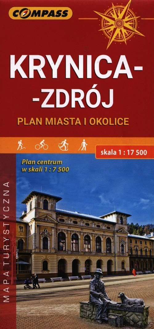Mapa Krynica-Zdrój ,plan miasta - okładka książki