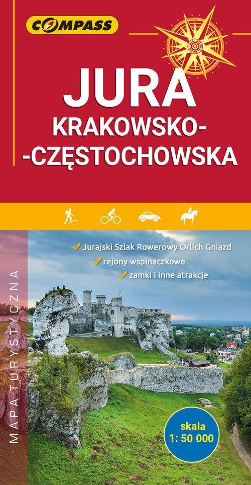 Mapa turystyczna Jura Krakowsko-Częstochowska - okładka książki