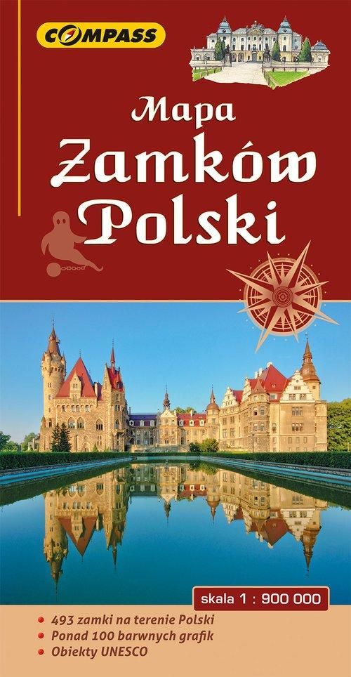 Mapa zamków Polski - okładka książki