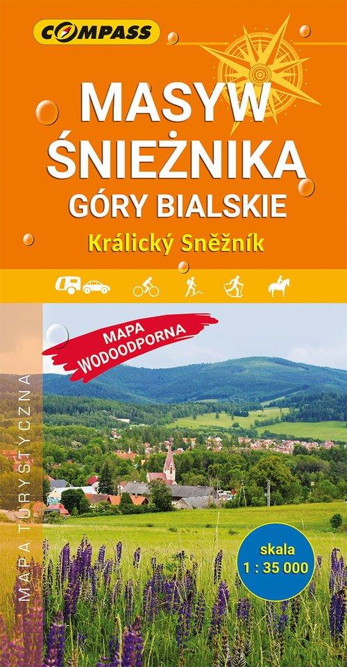 Masyw Śnieżnika Góry Bialskie mapa - okładka książki