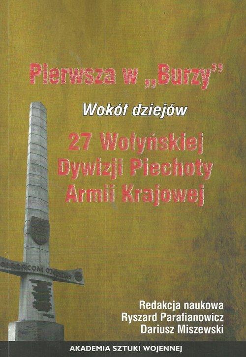 Pierwszy w Burzy. Wokół dziejów - okładka książki