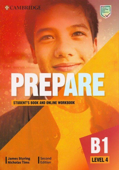 Prepare 4 Students Book with Online - okładka podręcznika