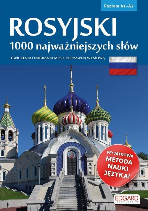Rosyjski. 1000 najważniejszych - okładka podręcznika