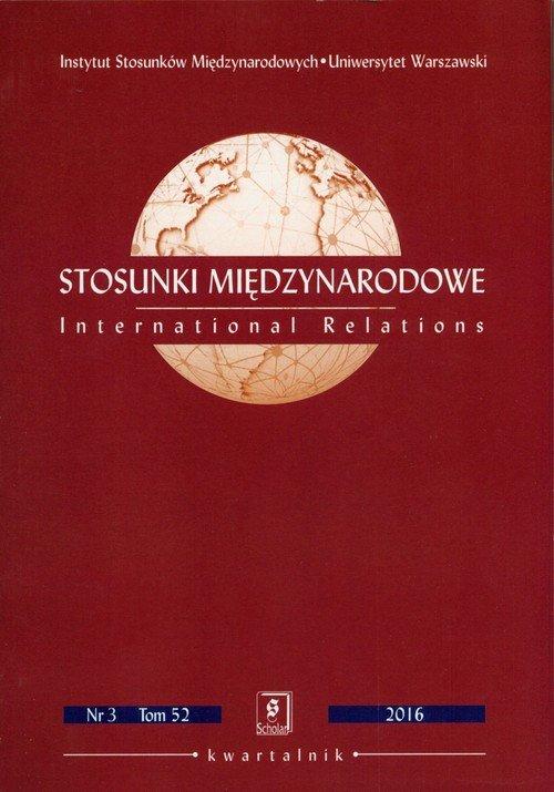 Stosunki międzynarodowe Nr 3. Tom - okładka książki