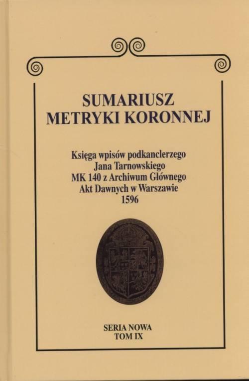 Sumariusz metryki koronnej. Księga - okładka książki